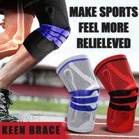 Ellenbogen-Knie-Pads Elastische Wrap Patella Recovery Brace für Arthritis Silikongel Basketball Volleyball Kniead Bike Sports Sicherheit