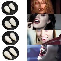 Vampir Dişleri Dişler Protez Dikmeler Cadılar Bayramı Kostüm Dikmeler Parti Dişler 4 Boyut kadar Tatil DIY Süsleri Korku Make Yana