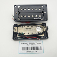 Black Alnico Humbucker Guitar Pickups 4C Collo e ponte Pickup per chitarra elettrica Eleciric 1 Set