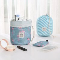 Cosmetic Bags New Fashion Ladies Drawstring Travel Cosmetic Bag Hot Round Waterproof Toiletries Storage Consolidation Accessories