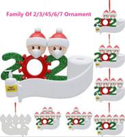 2020 regalo de la decoración del partido de cuarentena Cumpleaños Navidad Producto Familia personalizada de 4 5 6 7 ornamento de la pandemia de distanciamiento social