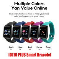 Spor Tracker ID116 PLUS Akıllı Bilezik ile Nabız Akıllı Watchband Tansiyon Bileklik PK ID115 PLUS 116 PLUS Fitbit MI için