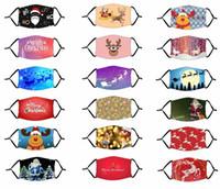 2020 Kerstmis gezichtsmasker wasbaar herbruikbare mond maskers ijs zijde doek ademend anti stof beschermende volwassen kinderen mode party maskers fy4223