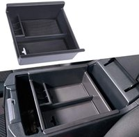 Centre Console Organizer compatible avec Toyota 4Runner 2010 PLATEAU DE MATÉRIAUX NOIRS ABS ABS, STOCKAGE SECONDAIRE DE L'AMRESTE