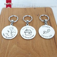 tag dog tag en acier inoxydable conception personnalisée auto-design chien rond peut crave dog tag nom pour animaux 3 styles