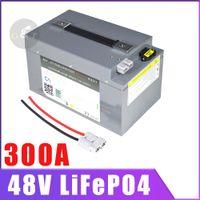 BMS Max 300A Sürekli Deşarj Derin Döngüsü Ücretsiz Bakım Güneş Enerjisi Depolama ile 48V 150AH LiFePO4 Pil 100Ah