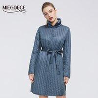 Женские Parkas Miegofce 2021 весенняя коллекция теплых хлопчатобумажных женщин пальто высококачественный длительный воротник с ременной курткой