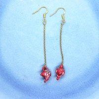 Dynda Żyrandol Handmade Anti-Allergy Gold Color Ear Hook Długie Kolczyki Wielo-kolory Mini Czajnik Kształtowany Kolczyk Biżuteria