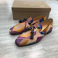 Adam Moda Alt Düz Oxford Lüks Casual Sneaker Des CHAUSSURES için loafer'lar Ayakkabı On Tasarımcı Erkek Kırmızı Bottoms Parti Elbise Düğün Kayma