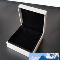 Boîtes blanches Bijoux d'emballage pour bijoux Bracelet velours noir Colliers bijoux boucles d'oreilles d'affichage Boîte en noir et blanc