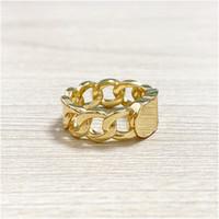2020 nuevo anillo trenzado de cobre boda Cd anillo de oro para las mujeres simple amor de la manera de Bohemia de la joyería para las mujeres con la caja