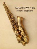 Pulsanti Giappone YANAGISAWA T-992 di alta qualità professionale Bb tenore B Flat sassofono di alta qualità ottone antico Bronze Pearl con boccaglio