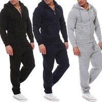 2020 NOUVEAU Trendy Muscle Men entraînement Survêtement Top Pantalons Costume Ensembles à capuche Manteau Pantalons d'extérieur