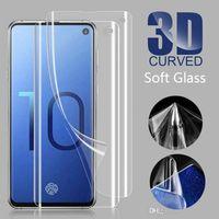 لينة TPU شاشة حامي رقيقة جدا PET البلاستيكية الزجاج المقسى لسامسونج S10 S10PLUS S9 S8 NOTE 8 ملاحظة 10 برو بدون صندوق