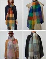 Stüdyo Tag şal şık tasarımcı ile şal şık, yüksek kaliteli ve zarif kadın s giymek lüks eşarp / akne harf uzun sıcak eşarplar