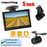 YuanTing 5 بوصة لون TFT LCD رصد سيارة العرض مع الرؤية الخلفية احتياطية عكس كاميرا للرؤية الليلية للماء 12V