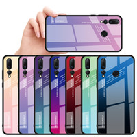 Gradient Glass Phone Case für Huawei P Smart-2019 P20 Pro Lite Mate20 Nova3i Honor V20 10 8X magic2 Bunte Abdeckung Shell