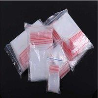 100pcs Qualitäts-Plastiktaschen Speicher löschen Paket Kleines Schmuck Verpackung wiederverschließbare Poly Zip Bag Thick