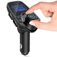 Aux-FM-Modulator Dual USB Port Bluetooth-Freisprecheinrichtung Car Kit FM-Radio-Adapter MP3-Player-Unterstützungs-TF-Karte U-Scheibe