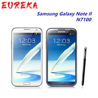 "Original Nota N7100 Desbloqueado Samsung Galaxy 2 II N7100 Mobile Phone 5.5"" Quad Core 8MP GPS WCDMA Recuperado Smartphone"