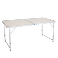 Portátil Multipurpose Tabela Folding 4 pés 48 polegadas em branco para Camping Party, Indoor Uso Doméstico