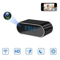 ليلة الأمن 1080P WIFI كاميرا صغيرة الوقت منبه لاسلكي استشعار الحركة IP الرؤية مايكرو الرئيسية عن بعد مراقبة خفية بطاقة TF