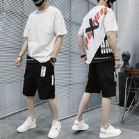 Sportswear 2020 Sport-T-Shirt Men Kurzarm T-Shirt 2 Stück Set Sport Short Sleeve Set Men Casual