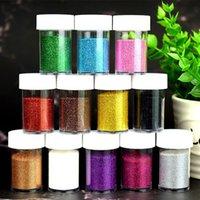 Dudak Gloss 20g Glitter Toz için DIY Lipgloss Taban Jel Araçları Yapma Pırıltılı Yüz Makyaj Kullanımı 12 Renkler