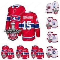 Montreal Canadiens 2020 Stanley Cup Playoffs Jesperi Kotkaniemi Tomas Tatar Max Domi Shea Weber Carey Precio Jonathan Drouin Gallagher Jersey
