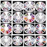 Nail Art Kitleri 1 adet 12 Renkler DIY Taş Dosyaları Toz Fırçası Temizleme Tampon Sünger Parlatıcı Kum Kum UV Jel Lehçe Akrilik Manikür Araçları
