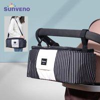 Sunveno Universal Baby Stroller Diaper Bag Organizador para Stroller fralda saco com Duplas Porta-copos