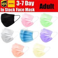 Elastik Kulak Döngü 3 Kat Nefes Toz Hava Karşıtı Kirliliği Face ile Stokta 8 Renk Tek Yüz Maskeleri Siyah Pembe Beyaz Ağız Maskesi