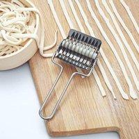 Acciaio inossidabile Noodle rullo della grata Scalogno Cutter pasta spaghetti Macchine caffè manuale pasta Press Strumenti di cucina LX33