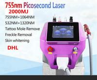 2020 Nouveau Pico Laser Tattoo Removal Machine 4 Wavelength 532nm 755nm 1064nm laser picoseconde 1320 nm Soins de la peau DHL