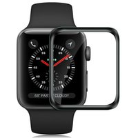 3D Full Glue Covered Tempered Glass 9H Protective Cover for Apple Watch Series1 2 3 4 5 6 SE Film Screen Protector Iwatch 38mm 40mm 42mm 44mm