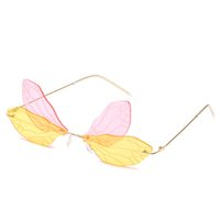 New Arrival Special Fairy Wings Design Originality Sunglasse...