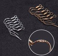 Mark Prata 925 Brinco de Ouro Descobertas Fishwire Hooks Ear fio gancho Francês HOOKS Jóias DIY 16 milímetros * 16 milímetros acessórios peixe gancho