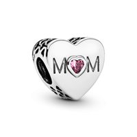 Authentic ALE 925 Sterling Silver Pink Mom Heart Charm Fit P...