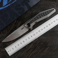 Açık meyve bıçağı pratik bıçak EDC kamp Yeşil diken 0470 kanatçık çabuk açma katlama bıçağı D2 bıçak titanyum alaşımı karbon fiber sap