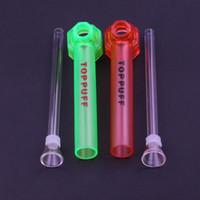 cam yağ yakıcı boru cam şişe Dönüştürücü taşınabilir Sigara Boru anlık taşınabilir Vida bong Su üst Puff toppuff cam pipolar