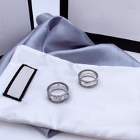 Buchstabe Interwaving Muster Ring 925 Sterling Silber Ring Alte geschnitzte raue Spitze Ring Einfache und vielseitige Modeschmuck