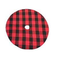 Plaid Christmas Tree Skirt - carreaux rouges Andblack pour atraditional Look - Lavage en machine Anddry