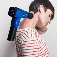 Muscle EU Stock elétrica Massage Therapy Gun Fascia Massagem armas profunda vibração Relaxamento Muscular Fitness Equipment com 5 cabeças