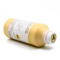 أطقم عبوة الحبر K C M Y White 1000ml / Bottle DTG Textile for Brother GT-3 Series GT-341 GT-361 GT-381 GT 341 361 381 طابعة نفث حبر رقمي