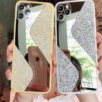 S нового стиль Зеркало Блеск телефон дело Bling макияж задней крышка протектор для iPhone 11 Pro и 11 про макс X Xs XR Max 7 7ра