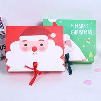 حقيبة هدايا عيد الميلاد مع تصميم خاص صناديق ورق الحرفية القابلة لإعادة الاستخدام لهواتف الحلوى الكوكيز حزمة عيد الميلاد موضوع الهدية أكياس التفاف AAF2039