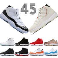 2019 Высокий 45 Concord 11 Баскетбольные Обувь Мужчины Женщины 11s Кроссовки Крышка и платье PRM Heiress Girm Красный Чикаго Platinum Tint Space Jams