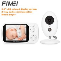 رصد الطفل fimei XF808 3.5 بوصة مراقب الفيديو اللاسلكي الرضع الأمن المنزل مربية كاميرا درجة حرارة النوم للرؤية الليلية