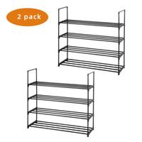 2 Set 4 Tiers Shoe Rack Rack Tower Shelf Shower Organizer per la camera da letto Entranway Corridoio e armadio