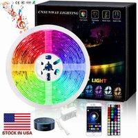 Luz ultra brilhante LED Luzes RGB 16.4FT 5M SMD 5050 DC12V 24V Les Flexible Les Luzes 50LED Medidor 16Different Cores Estáticas